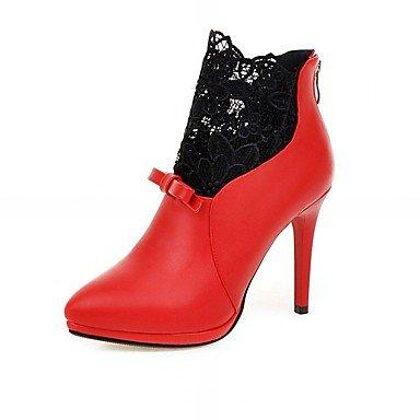De donna-tacchi-matrimonio/Oficina y Trabajo/planeta y el Día/vestir/casual-tacchi/Plateau/anfibi/Innovador/Botas a la, rojo rojo