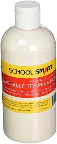 School Smart Washable Tempera Paint - Pint - White