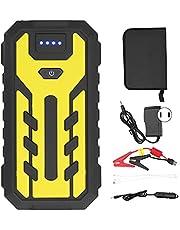 Cargador de Batería USB, 28000mAh 4USB Salida Arrancador Portátil para Automóvil con Linterna para 12V Motercycle Diesel Coche de Gasolina Amarillo(Regulaciones de EE. UU. 110V)
