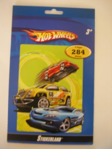 Hot Wheels Sticker Book ~ 284 Stickers (Hot Wheels Cars Stickers)