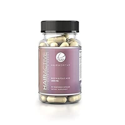 HAIRWORTHY - FOR 100% FASTER hair growth. UP TO 4X STRONGER than regular hair supplements. All natural vitamins for longer and thicker hair. With Biotin, Folic acid & Multivitamin.