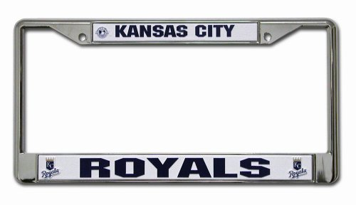 MLB Kansas City Royals Chrome License Plate -