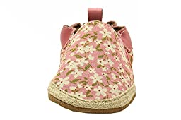 Robeez Floral Mania Soft Sole Crib Shoe (Infant), Light Pink, 6-12 Months M US
