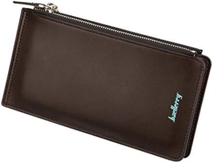 Baellerry Business Men Wallets Soft PU Leather Long Bifold Wallet Portable Cash Coin Purses Zipper Wallets Male Clutch Bag