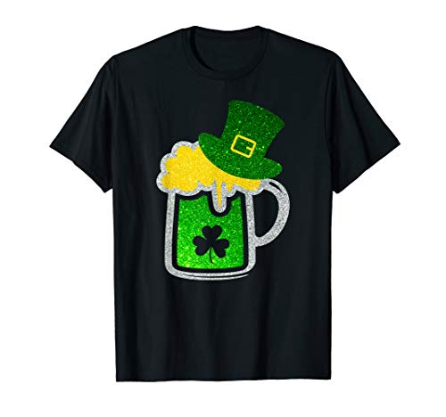 - Diamond Shamrock Beer Mug Leprechaun T-Shirt St Patricks Day