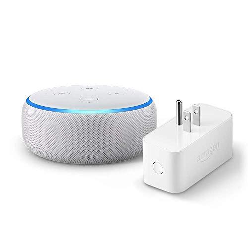 Echo Dot (3rd Gen) bundle with Amazon Smart Plug – Sandstone