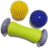 3pcs Foot Roller Massage Ball for Relief Plantar Fasciitis and Reflexology Massager for Deep Tissue Acupresssure…