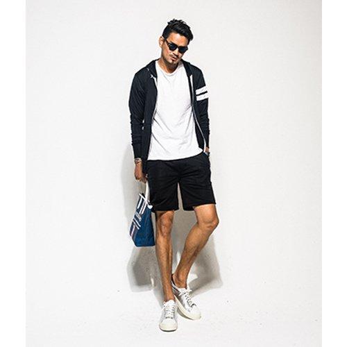 RESOUND CLOTHING(リサウンドクロージング)ラッシュガード セットアップ ブラック ラッシュパーカー ラッシュパンツ 水着 スイムウェア メンズ B07C24TP6Q