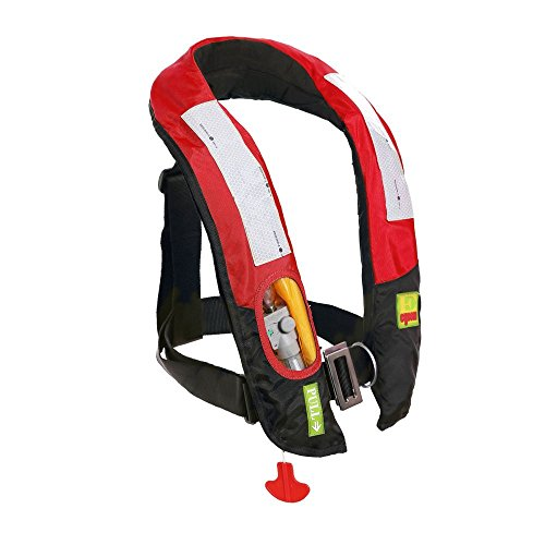 (Eyson Inflatable Life Jacket Life Vest Highly Visible Automatic (Red))