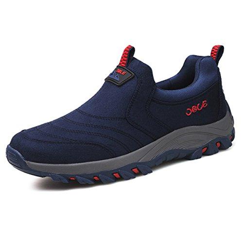 Daim Loafers Randonne Respirant Bleu En Confortable Marche De Running Trekking Sneaker Hommes Sports D'escalade Slip Pour slip Pied Course Athltique Gracosy Chaussures Taille On Anti xRSEwvxO