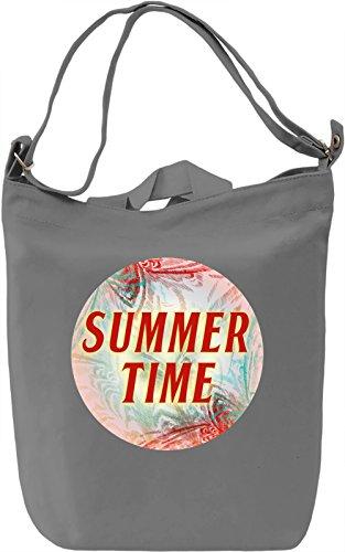 Summer Time Borsa Giornaliera Canvas Canvas Day Bag| 100% Premium Cotton Canvas| DTG Printing|