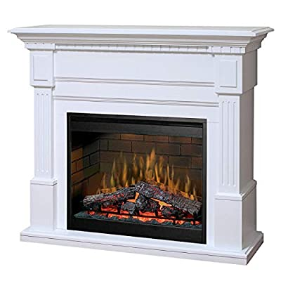 "DIMPLEX Essex 55"" Electric Fireplace Mantel in White"