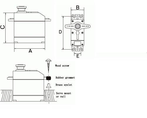 Micro RC Mini Servo 9g SD für T Rex 450 SG90 AE09 0,1sec 1,4kg 4,8V 1,6kg 6V