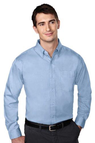 Tri Mountain Chairman Pinpoint Oxford Shirt  5Xl  Light Blue