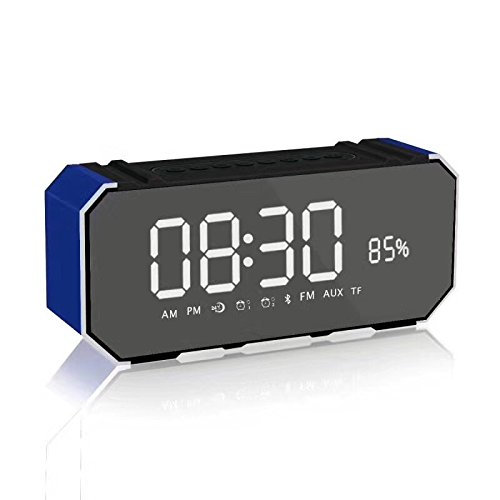 xingganglengyinBluetooth Speaker Mirror Wireless LED Time Alarm Phone Mobile Mini Portable Card Gift Subwoofer by xingganglengyin (Image #3)