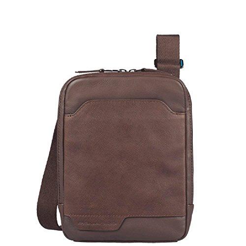 Piquadro Organized pocket cross body bag with iPad®mini compartment Euclide