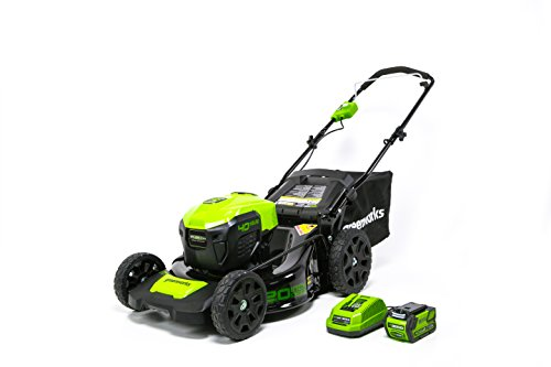 GreenWorks MO40L410 G-MAX 40V 20-Inch Cordless 3-in-1 Lawn Mower with Smart Cut Technology, (1) 4Ah Battery and Charger included (Best Wide Cut Lawn Mowers)