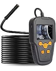 Endoscópio, Tomshin Câmera endoscópica de 2,4 polegadas Tela LCD 1080P Lente de 5,5 mm de alta definição IP68 Endoscópio portátil doméstico industrial Endoscópios digitais com luz de 8 LEDs