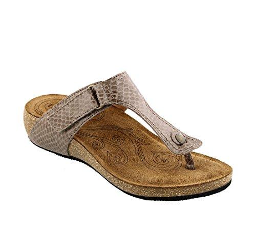 - Taos Footwear Women's Lucy Taupe Snake Sandal 6-6.5 M US