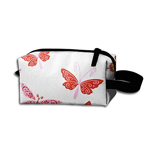 Create Magic - Butterfly Pen Holder Stationery Pencil Pouch Cosmetic Bags Waterproof Multi-purpose Storage Tote Tools Pouches Cosmetic Bags With Zipper And Hanging Loop