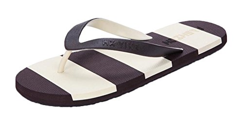 Coffee Stripes Herren Pantoffeln Outdoor Flip Flops x2MlMFbW