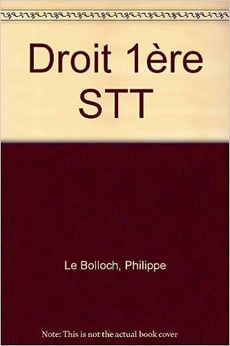 Trouver un livre électronique Droit 1re STT PDF iBook