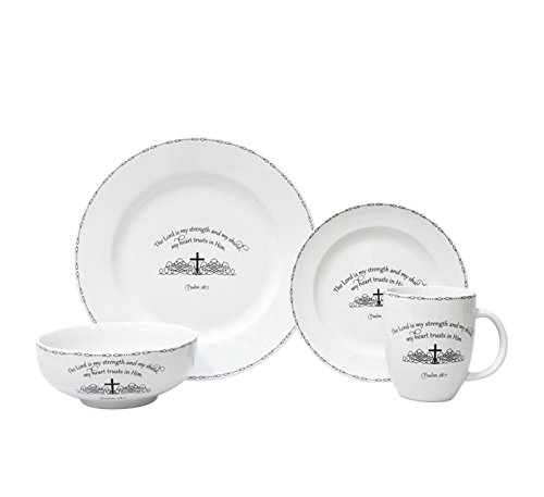 222 Fifth 1047BK801A1A05 Table Graces 16 Piece Dinnerware Set, White by 222 Fifth (Image #5)