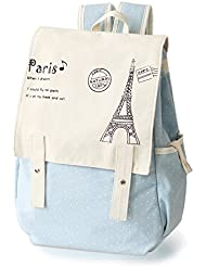 Kawaii Backpack Canvas Cute Polka Dot Bow Lace Bookbags Schoolbag Satchel School College Bag Rucksack by DGQ for...