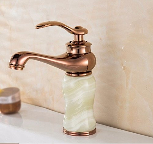 ETERNAL QUALITY Bathroom Sink Basin Tap Brass Mixer Tap Washroom Mixer Faucet Basin faucet bathroom hot and cold mixer single hole Single Handle M Kitchen Sink Taps