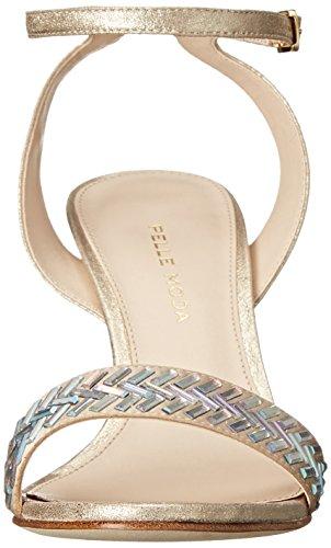 Moda Ines Sandalo Oro Donna Platino Pelle vqCw1Exq