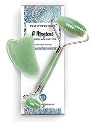 RoselynBoutique Natural Jade Roller For Face - Gua Sha...