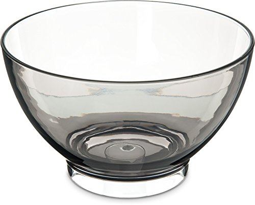 Carlisle EP1018 Epicure Tritan Footed Serving Bowl, 3 qt., (Three Footed Bowl)