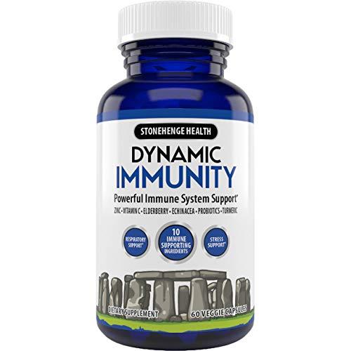 Stonehenge Health Dynamic Immunity Daily Supplement 10-in-1 Immune Boosters Zinc, Elderberry, Echinacea, Vitamin C…