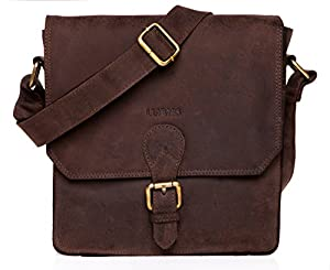 LEABAGS Havanna genuine buffalo leather city bag in vintage style