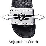Raiders Mens Adjustable Slippers Sports Shower