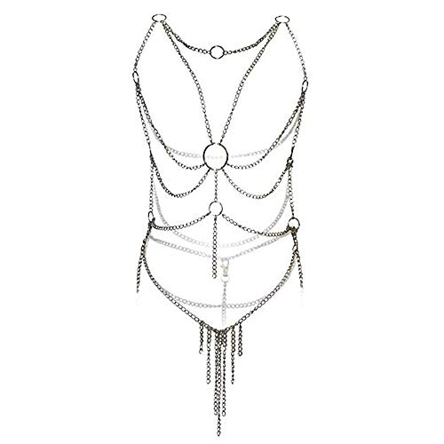 Women's Lingerie Chain Set Cross Enticing Tassel Body