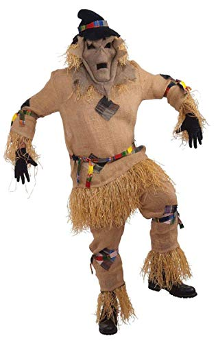 Men's Scarecrow Monster Costume, Multi-Colored, One Size -