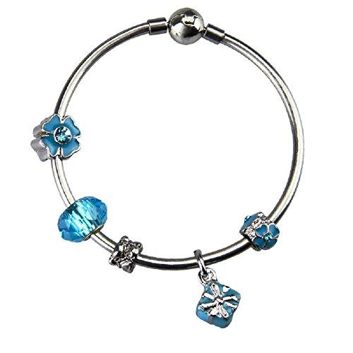 Bangle Bracelet with Charms for Pandora 7.5