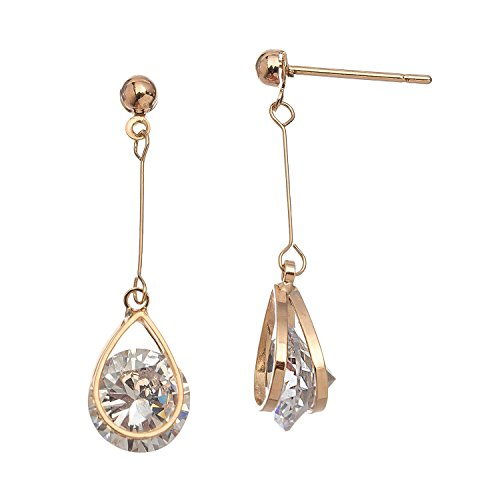 Frame Teardrop Gold (Howard's Dazzlers - CZ Gold Tear Drop Frame Earring)