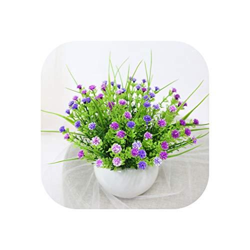 Artificial Flowers Rose Quality Ceramics Vase +Silk Flowers Artificial Set Home Decoration Home Flowers Decoration,P ()