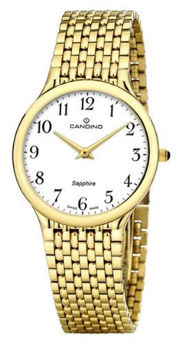 Candino C4363/1 - Reloj analógico de Cuarzo para Hombre, Correa de Acero Inoxidable Color Dorado: Amazon.es: Relojes
