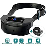 #2: [New 2019 Upgraded] Bark Collar w/Microprocessor Control Smart Chip - Best Dog Anti-Barking Device - Shock, Vibration, Beep Mode for Small, Medium, Large Dogs All Breeds. Quick Results.