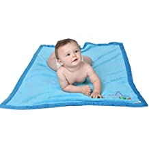 """Eric Carle Baby's The Very Hungry Caterpillar Comfy, Warm, Plush Printed Blanket, Baby Blanket, Baby Cover, 30"""" X 40"""", Boys, Blue"""