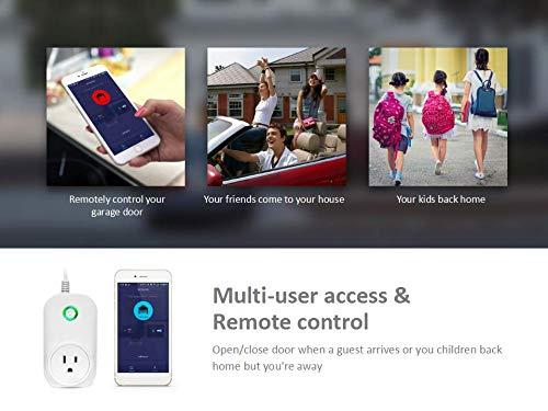 Smart WiFi Garage Door Opener, Wireless & WiFi Remote Smart