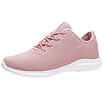 YILAN Women's Fashion Sneakers Breathable Sport Shoes (11 B(M) US, Pink-3)