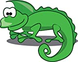 Iguana Cartoon Animal Home Decal Vinyl Sticker 14'' X 11''