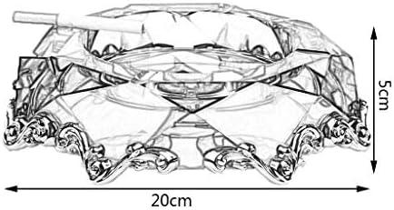 葉巻灰皿, クリスタルリビングルーム/寝室/オフィス用のオプションの灰皿オフィスの装飾クリスタル灰皿創造的な人格のギフト家庭大型のマルチカラーモデルなど20 * 20 * 5センチメートル(カラー:E)、カラー:D (Color : D)