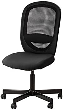 Ikea Flintan - Silla giratoria de Escritorio, Color Negro: Amazon ...