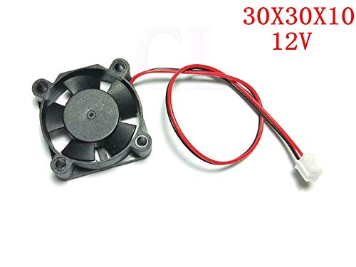 FidgetKute 20pcs lot 3010s DC 12V 30mm x 30mm X 10mm Brushless Cooling Fan Blower Show One Size