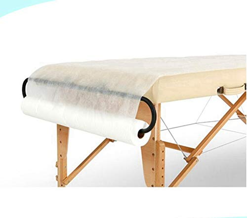 Topbarber Disposable Non-Woven Sheet Salon Beauty Facial Bed Cover Roll for Waxing, Body Care (31